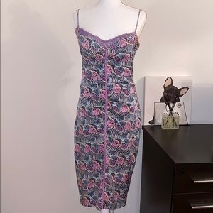 Vintage Silk Midi dress in size 8